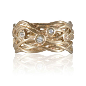 9ct Yellow Gold and Diamond nest Eternity Ring