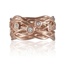 Load image into Gallery viewer, 9ct Rose Gold and Diamond Nest Eternity Ring