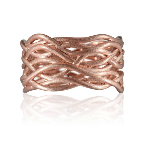 Reed Plain Nest Ring 9ct Rose Gold