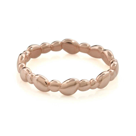 Pebble Plain Ring 9ct Rose Gold