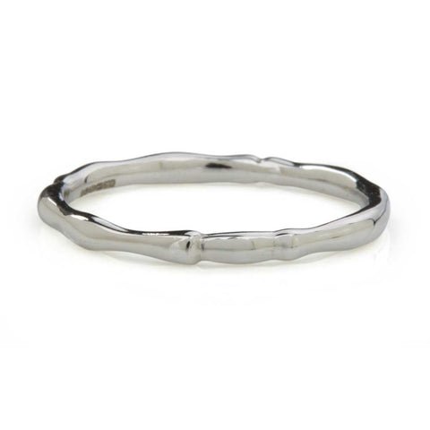 Reed Plain Skinny Ring 9ct White Gold
