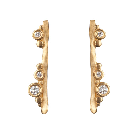 Flint Bar Earrings 9ct Gold