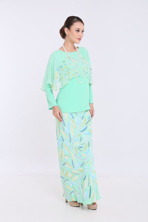 Ameera - Cape Kurung - Light Mint