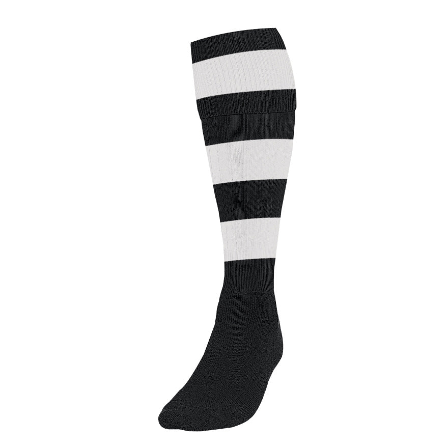 Chepstow RFC Black-White Hooped Socks