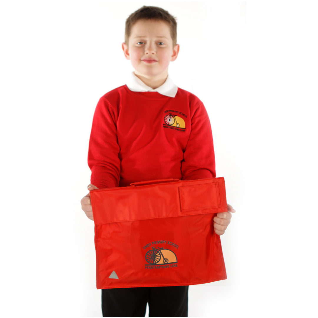 Undy Primary School Red Bookbag with Logo