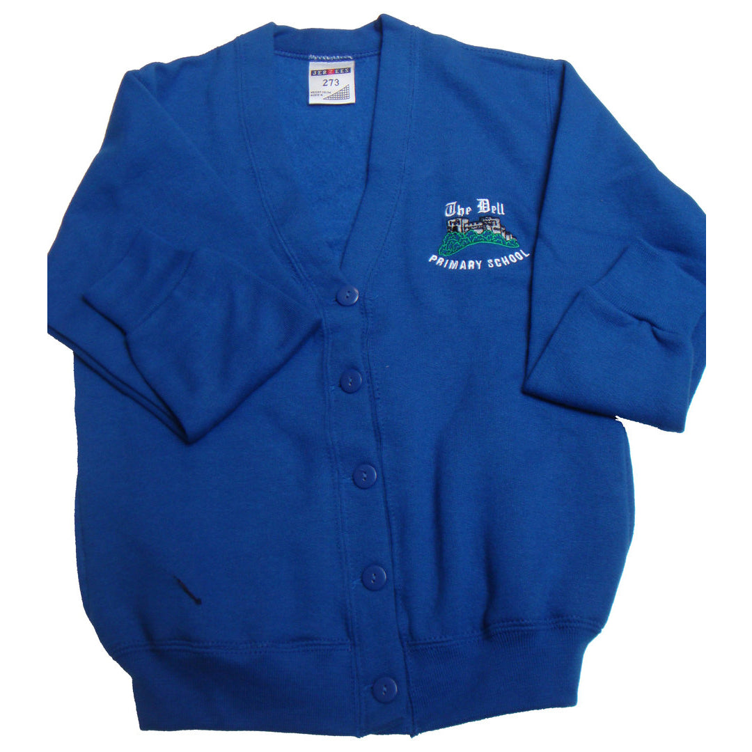 The Dell School Cardigan with Logo
