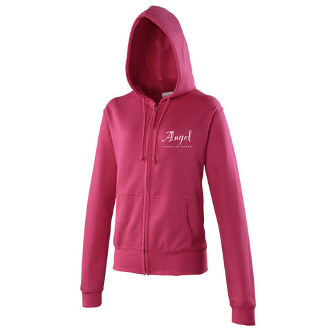 Angel School of Dance Hoodie Hot Pink - Ladies