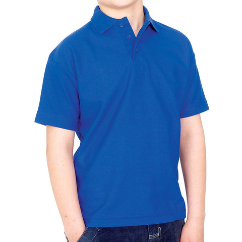 Polo Shirt in Royal Blue with School Badge