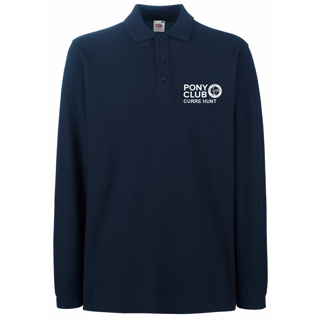 The Pony Club Long Sleeve Polo in Navy - Adult