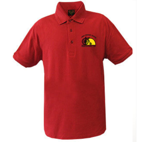 Undy Primary School Red Polo Shirt with Logo