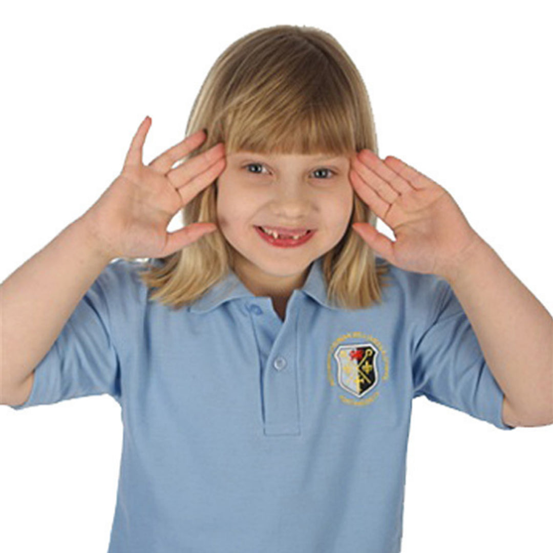 Archbishop Primary School Polo Shirt Sky with Logo