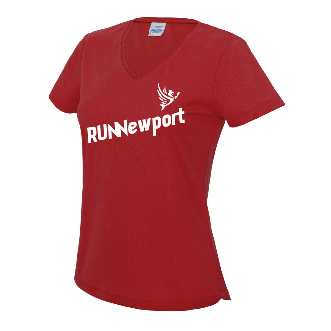 RUNNewport - Ladie's V-Neck Cool T