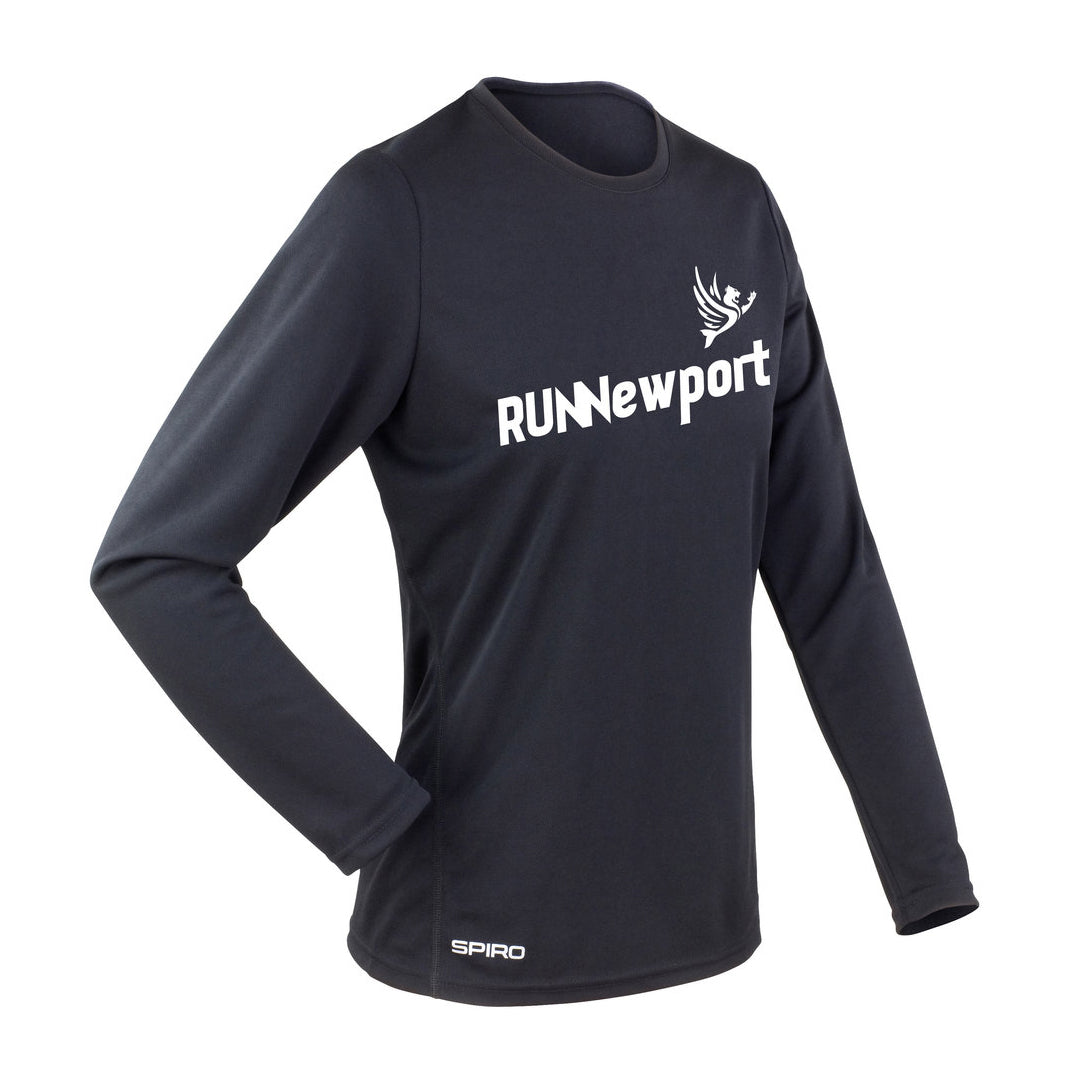 RUNNewport - Ladie's quick-dry long sleeve running t-shirt