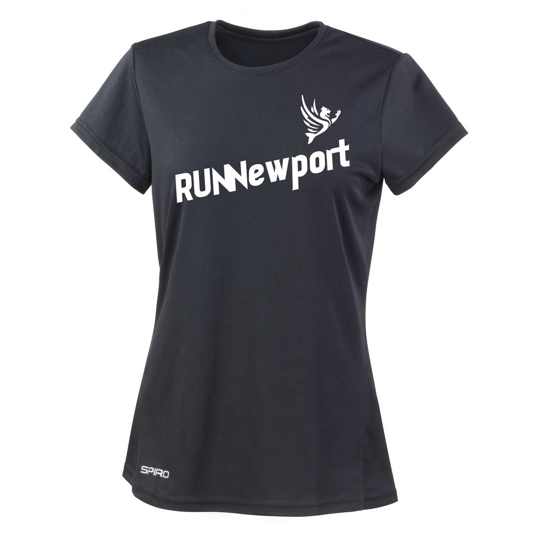 RUNNewport - Ladie's quick-dry short sleeve running t-shirt