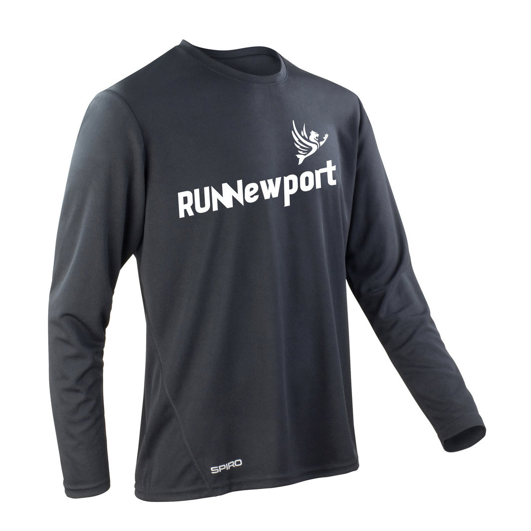 RUNNewport - Men's quick-dry long sleeve running t-shirt