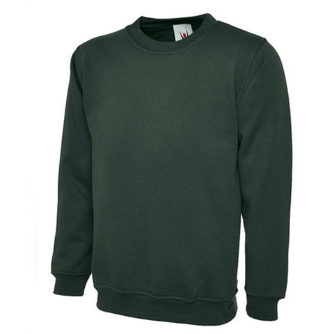 Sweatshirt in Bottle Green with School Badge