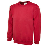 Sweatshirt in Red with School Badge