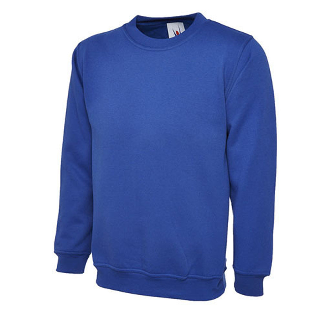 Sweatshirt in Royal Blue with School Badge