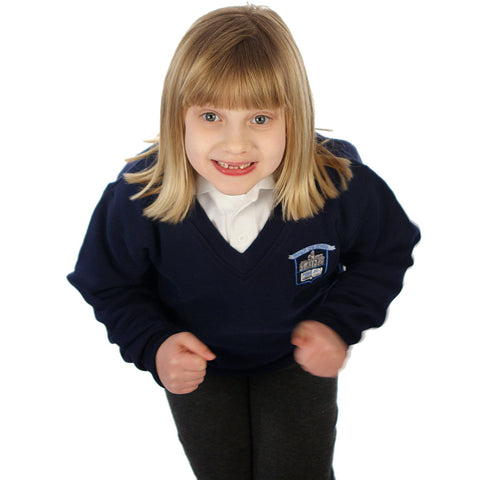 Magor CIW School V-Neck Sweatshirt with Logo