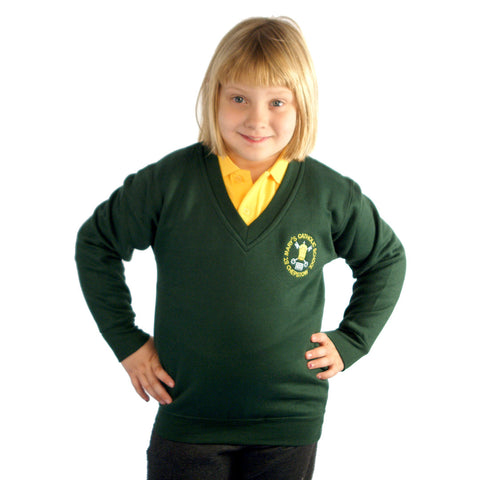St Mary's RC School V-Neck Sweatshirt with Logo