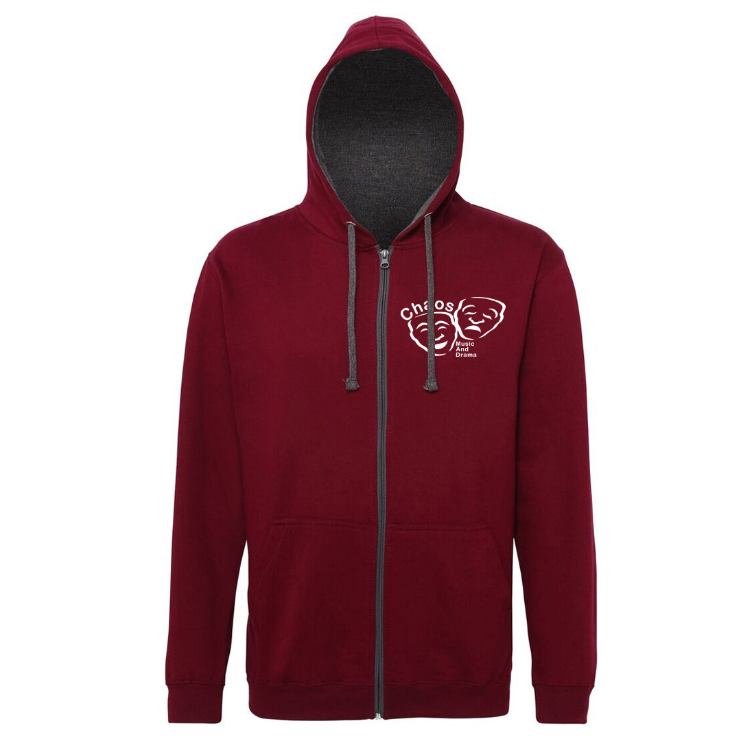 Chaos Music Zipped Varsity Hoodie Adult