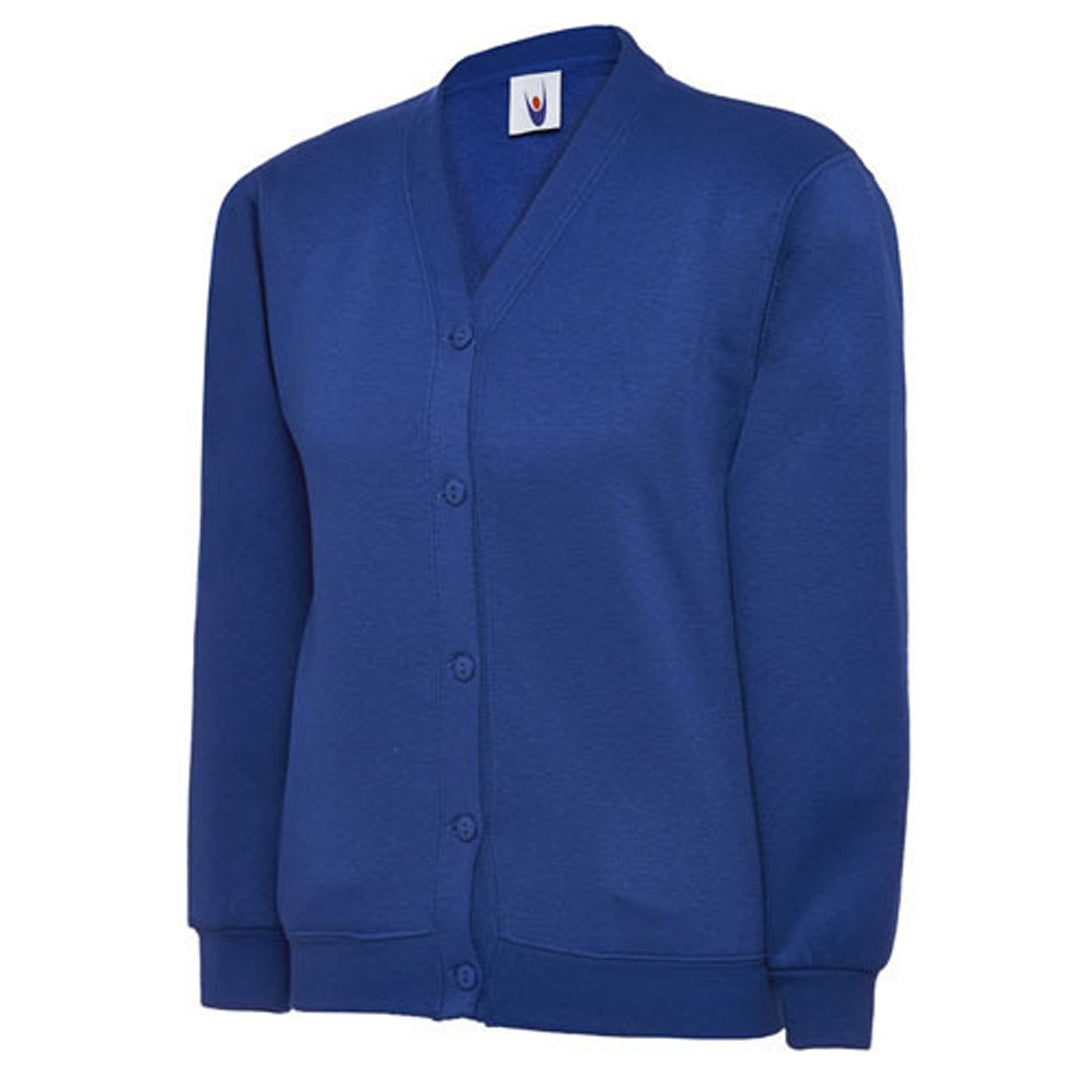Cardigan in Royal Blue with School Badge