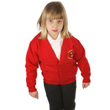 Rogiet School Cardigan with Logo