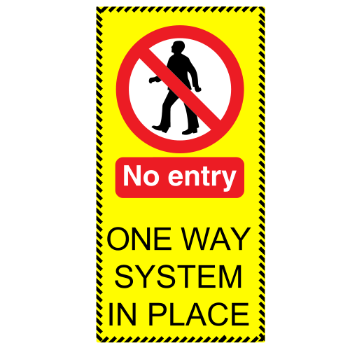 COVID-19 - No Entry Floor Stickers x 5
