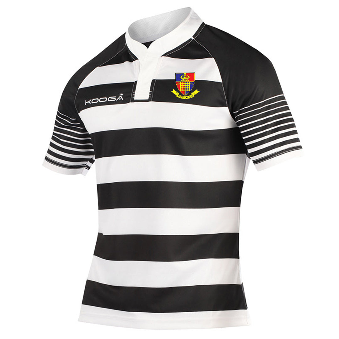 Hooped Match Shirt in Black/White