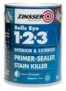 Zinsser Bulls Eye 123 Water Based Primer Sealer 1 Ltr