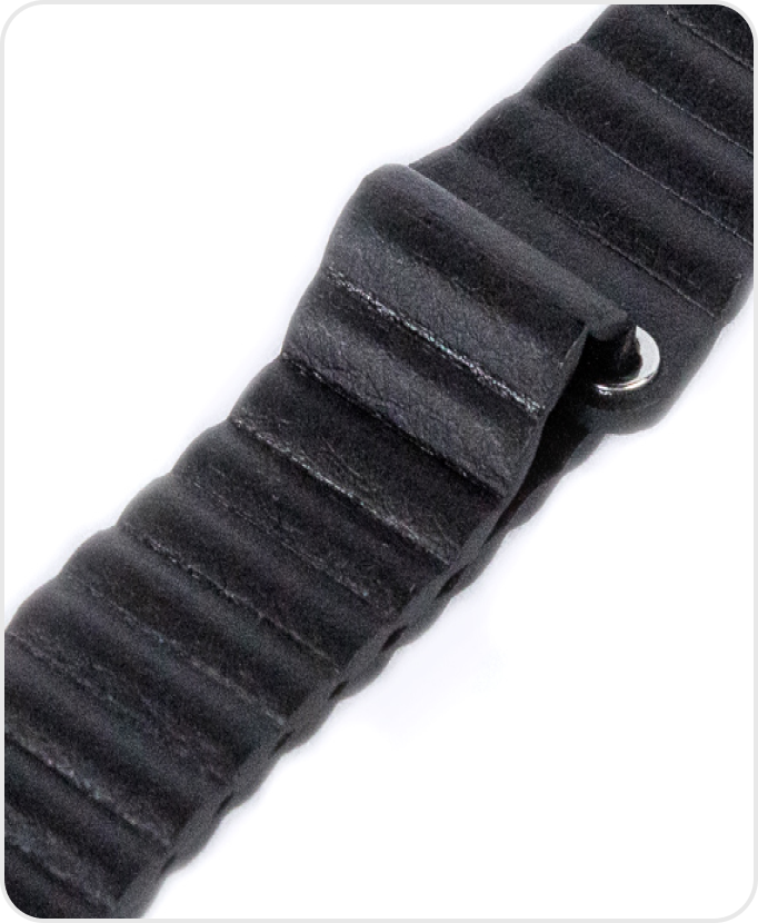 Black Vegan Leather Band