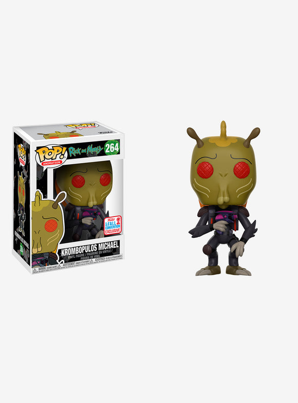 POP RICK AND MORTY KROMBOPULOS MICHAEL VINYL FIGURE FUNKO FALL 2017 CONVENTION EXCLUSIVE #264 PRE ORDER FEBRUARY 2018