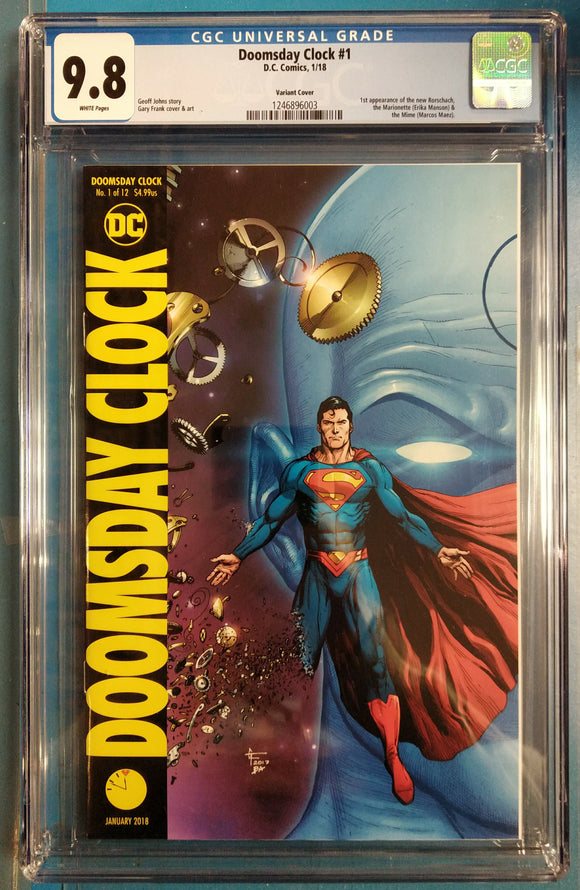 CGC GRADED 9.8 DOOMSDAY CLOCK #1 GARY FRANK VARIANT COVER