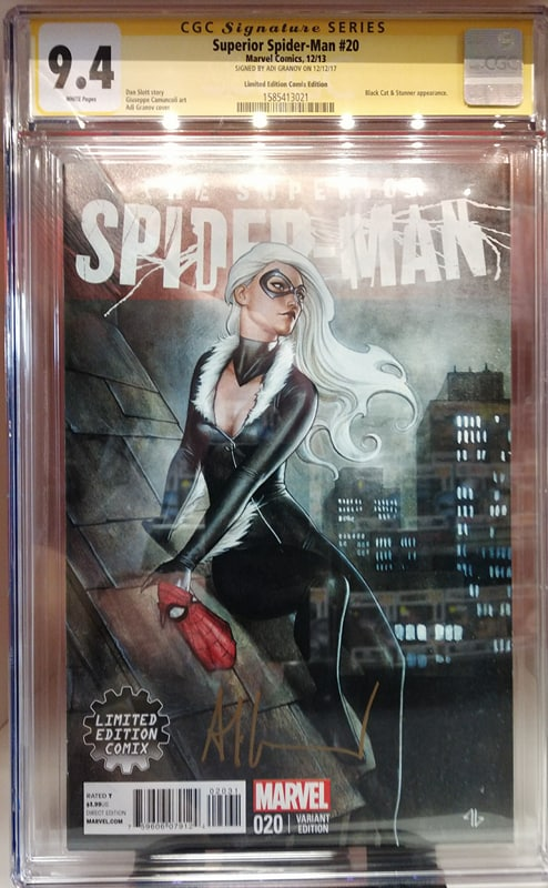 CGC GRADED 9.4 THE SUPERIOR SPIDER-MAN #20 LIMITED EDITION COMIX VARIANT SIGNED BY ADI GRANOV
