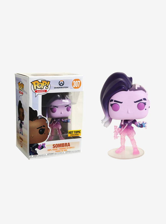 POP OVERWATCH SOMBRA VINYL FIGURE HOT TOPIC EXCLUSIVE PRE ORDER EARLY MAY 2018