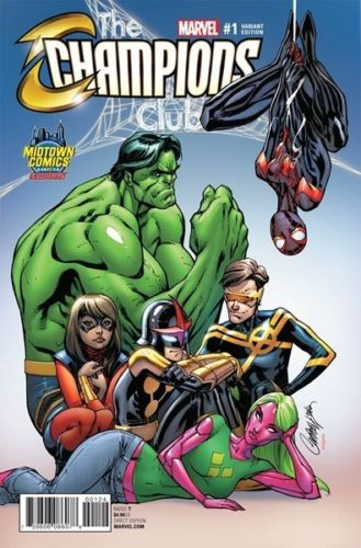 CHAMPIONS VOL.2 #1 J. SCOTT CAMPBELL MIDTOWN COMICS COLOUR VARIANT