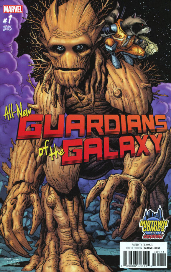 ALL NEW GUARDIANS OF THE GALAXY #1 ART ADAMS MIDTOWN COMICS VARIANT