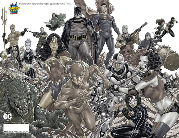 JUSTICE LEAGUE VS SUICIDE SQUAD #1 MARK BROOKS MIDTOWN COMICS VARIANT COVER C