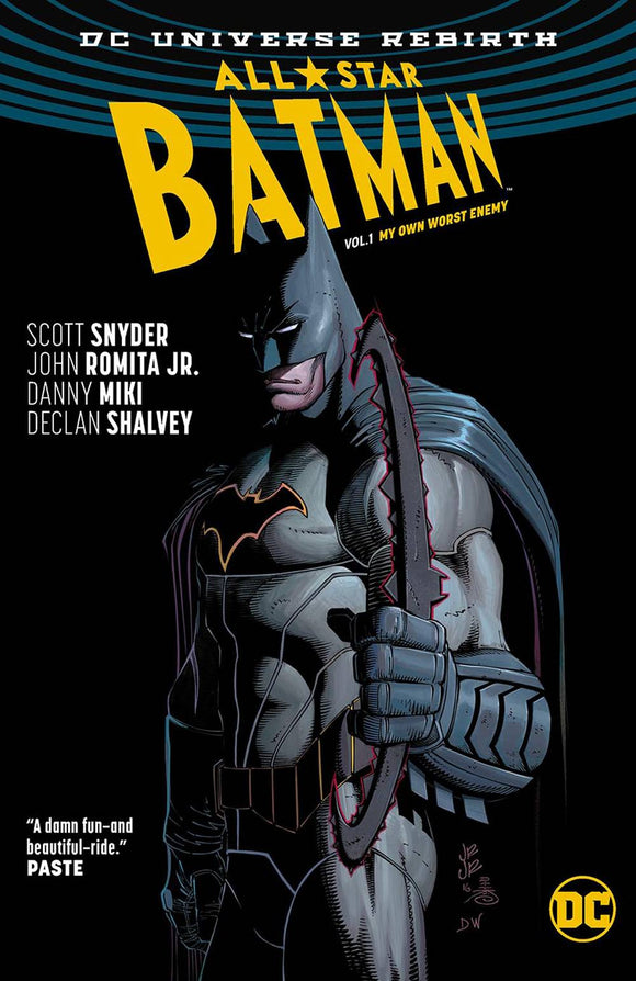 ALL STAR BATMAN VOLUME 1 MY OWN WORST ENEMY REBIRTH PAPERBACK