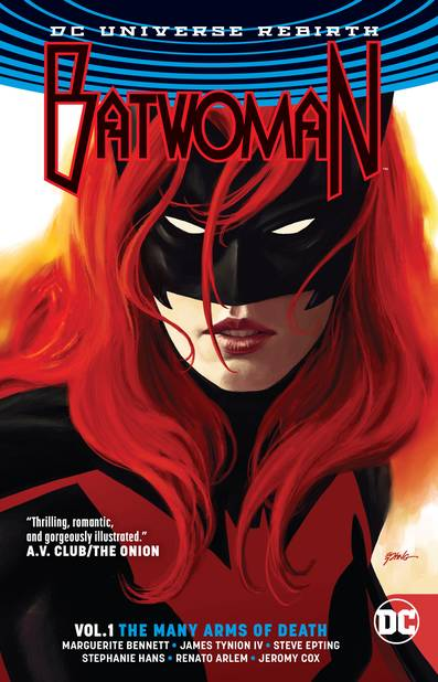 BATWOMAN VOLUME 1 THE MANY ARMS OF DEATH REBIRTH PAPERBACK