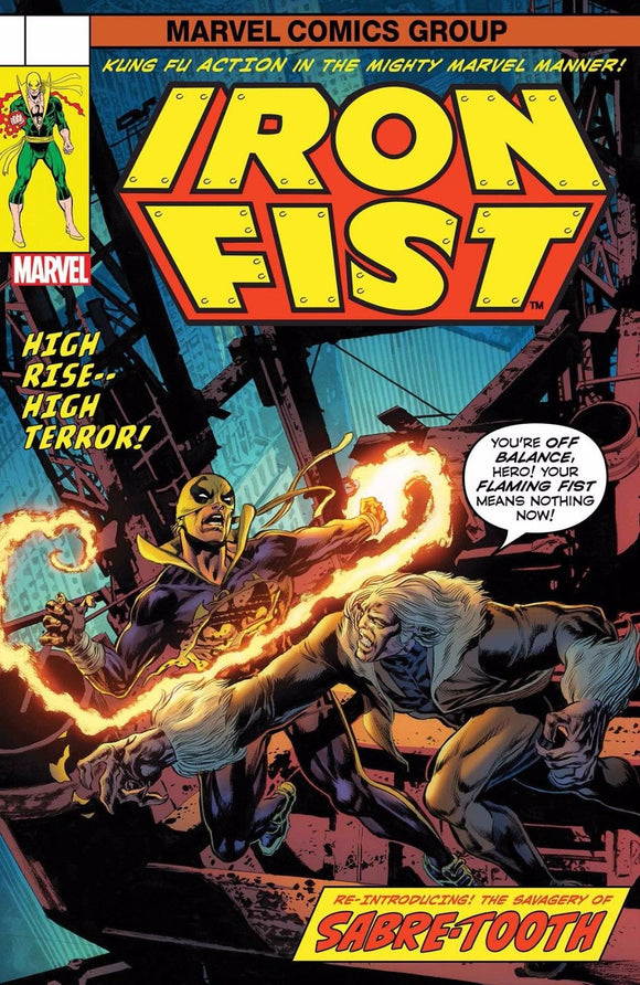 IRON FIST VOL.1 #73 LENTICULAR VAR MARVEL COMICS 1ST PRINT