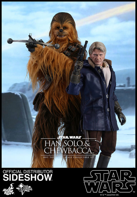 STAR WARS THE FORCE AWAKENS HAN SOLO CHEWBACCA SIXTH SCALE FIGURES HOT TOYS