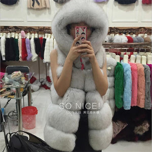 Faux Fur Hooded Vest