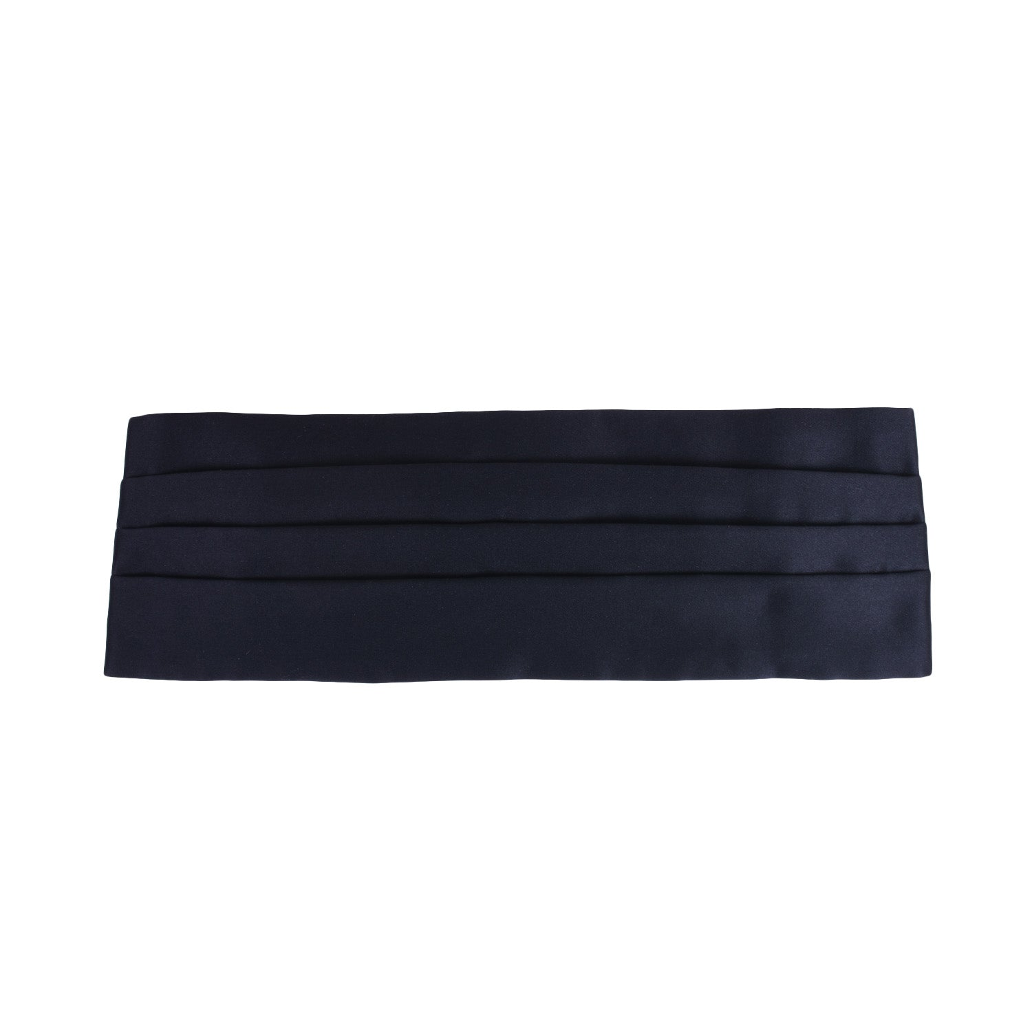Black Silk 4 Pleat Cummerbund - serafinesilk