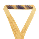 Yellow zig zag V point knitted tie - serafinesilk