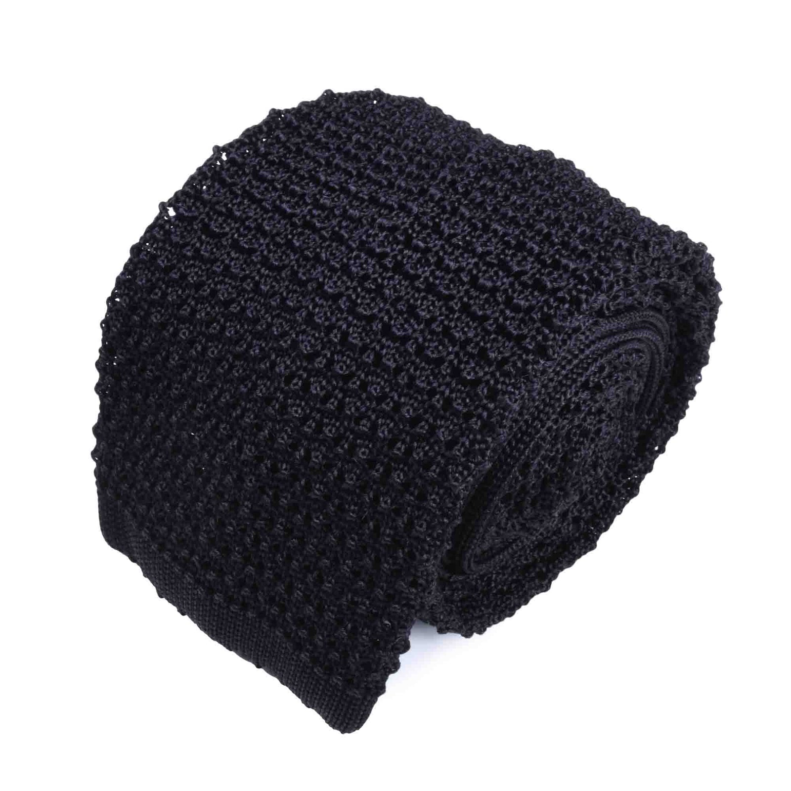 KNITTED CROCHET BLACK TIE