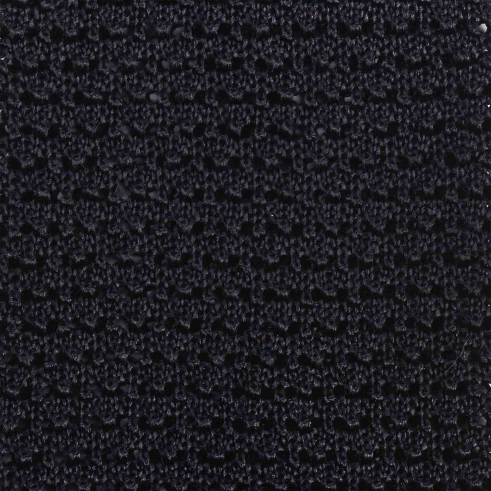 Black crochet knitted tie - serafinesilk