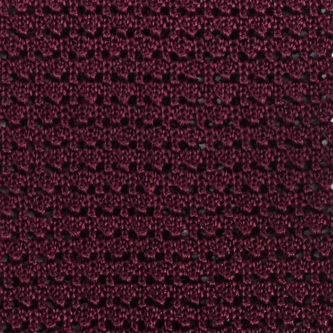 KNITTED CROCHET BURGUNDY TIE