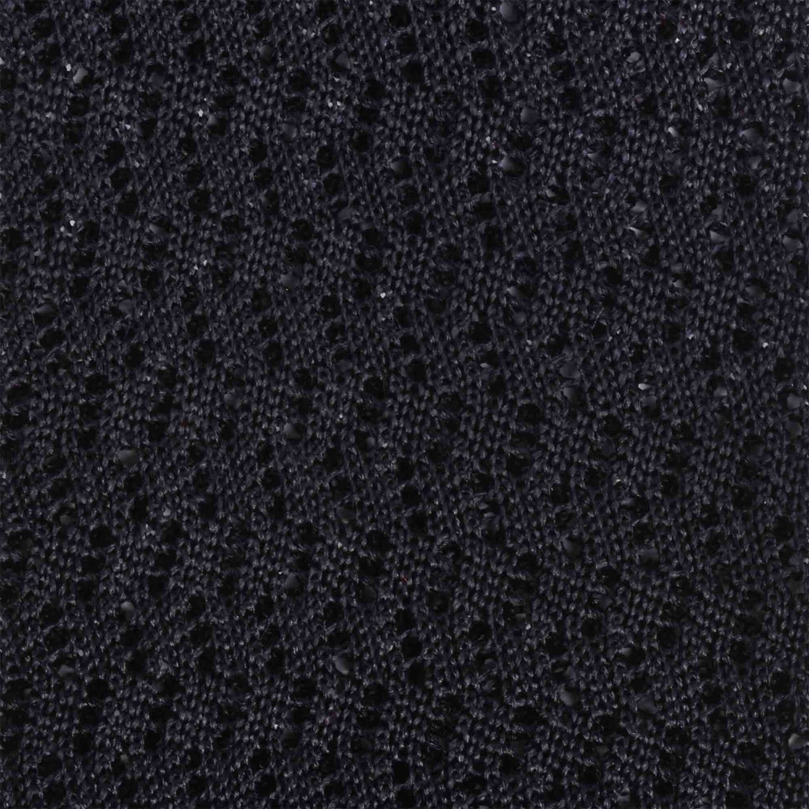 Black zig zag V point knitted tie - serafinesilk