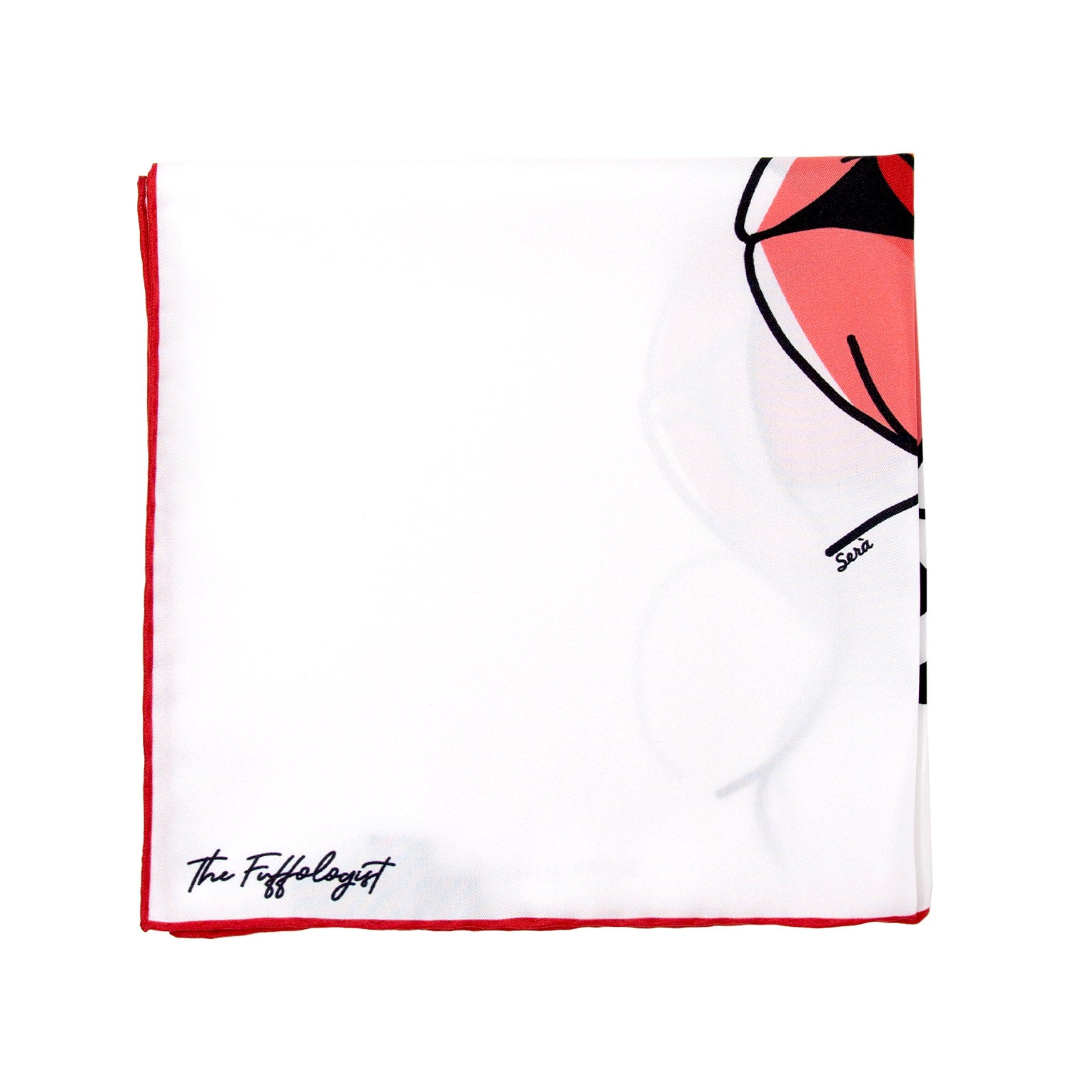"""When Flirting Turns Into Feelings"" pocket square"